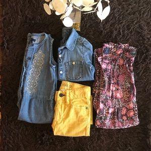 Baby Gap 2T bundle,Romper, jumpsuit, shirt & jeans